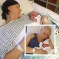 Bà bầu - Mẹ dũng cảm cắt bỏ ngực sau sinh 30 phút