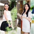 Làng sao - Linh Nga đẹp rạng ngời đi mua sắm
