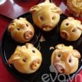 Bếp Eva - Bánh trung thu hình heo nhân đậu xanh