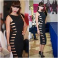 Thời trang - Hà Anh diện váy cut out khoe hông táo bạo