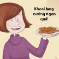 Bếp Eva - Nhâm nhi khoai lang nướng kiểu BBQ