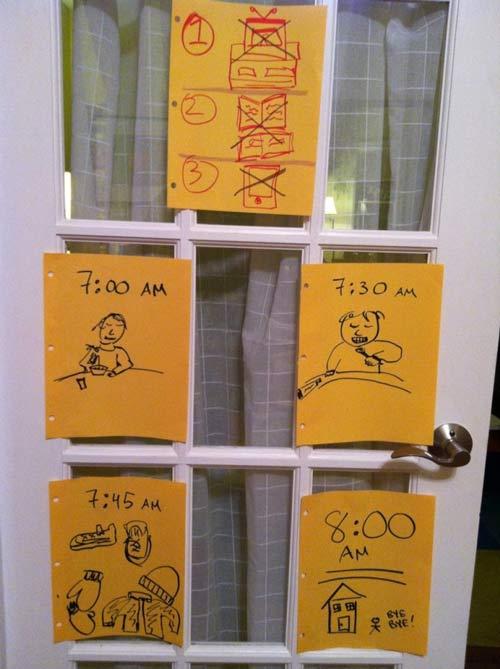 Học mẹ Mỹ tạo bảng nhắc việc con cực hay-2