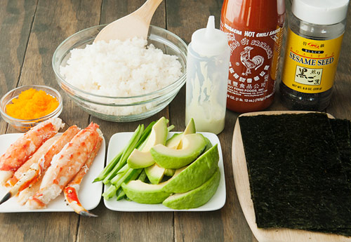 tu lam sushi hinh oc que thom ngon - 5