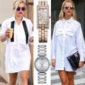 Thời trang - Mỹ nhân khéo chọn đồng hồ cho áo sơ mi trắng