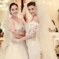 """Làng sao - Á hậu Hoàng Anh, Hồng Quế """"đọ"""" áo cưới"""