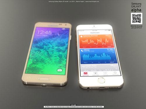 iphone 6 va galaxy alpha vien kim loai do thiet ke - 1