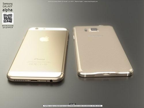 iphone 6 va galaxy alpha vien kim loai do thiet ke - 2