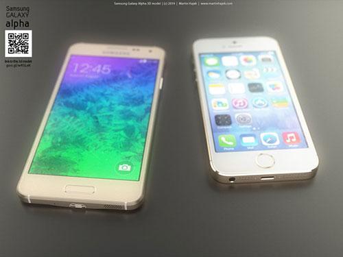 iphone 6 va galaxy alpha vien kim loai do thiet ke - 5
