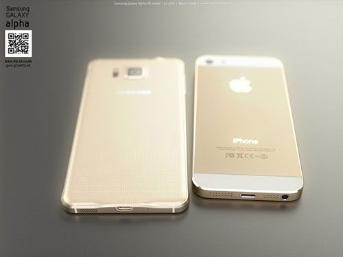 iphone 6 va galaxy alpha vien kim loai do thiet ke - 6