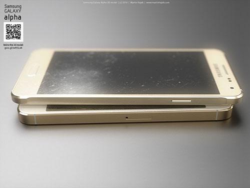 iphone 6 va galaxy alpha vien kim loai do thiet ke - 7