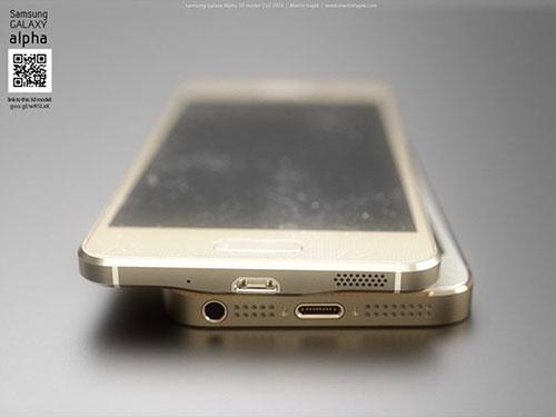 iphone 6 va galaxy alpha vien kim loai do thiet ke - 8