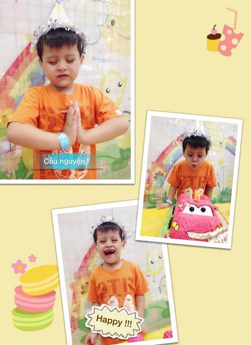 Con trai Thanh Thúy hạnh phúc đón tuổi thứ 5-1