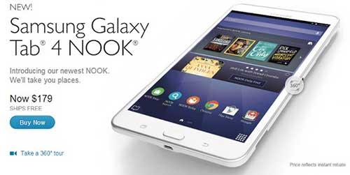 Samsung ra mắt Galaxy Tab 4 Nook giá rẻ-1
