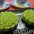 Bếp Eva - Bánh Trung thu trà xanh nhân đậu xanh