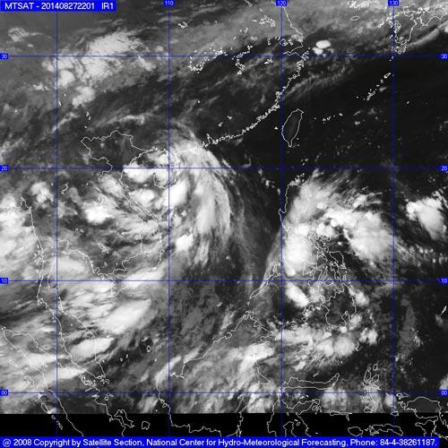 Biển Đông xuất hiện áp thấp nhiệt đới-1