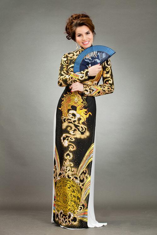 hoa hau kim hong sang trong voi ao dai long phung - 7