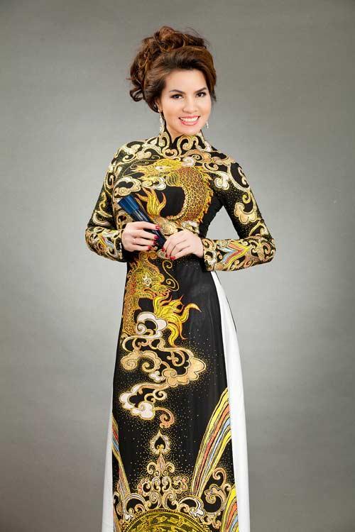 hoa hau kim hong sang trong voi ao dai long phung - 8