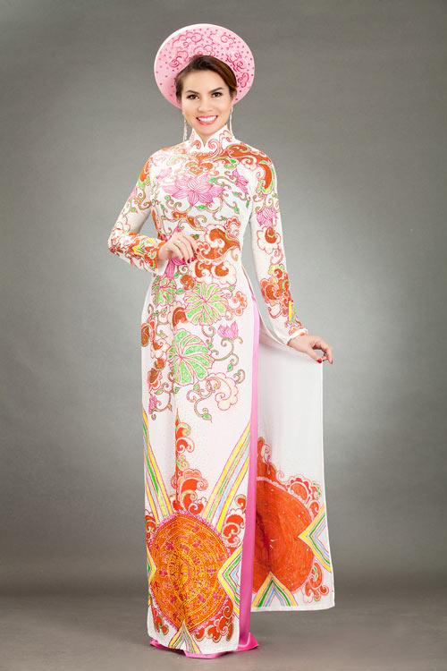 hoa hau kim hong sang trong voi ao dai long phung - 6