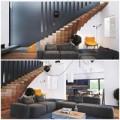 Nhà đẹp - Nhà 2 tầng có cầu thang nổi tuyệt đẹp