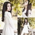 Thời trang - Phan Như Thảo đẹp tinh khôi với sắc trắng