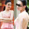 Thời trang - Hoa hậu Thùy Lâm e thẹn khoe lưng trần