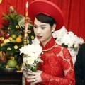 """Thời trang - Những chiếc áo dài cưới """"ăn điểm"""" của sao Việt"""