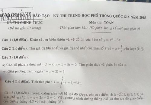 nhieu thi sinh ra som, khong lam duoc het bai thi mon toan - 4