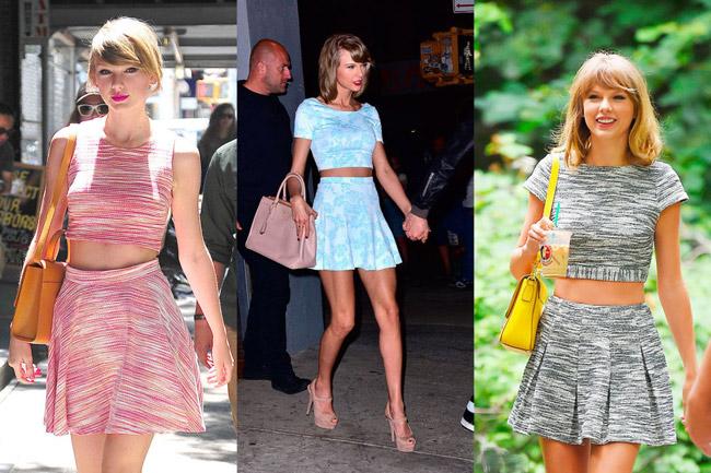 1. Áo lửng và chân váy xòe xếp nếp