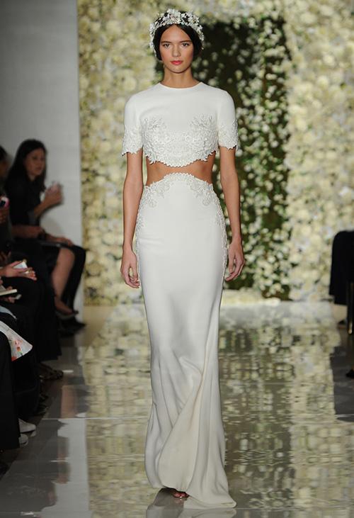 Kiểu váy cưới thú vị mọi cô dâu nên thử năm 2015 - 13
