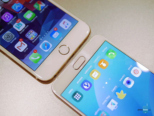 so sanh nhanh galaxy note5, iphone 6 plus - 2