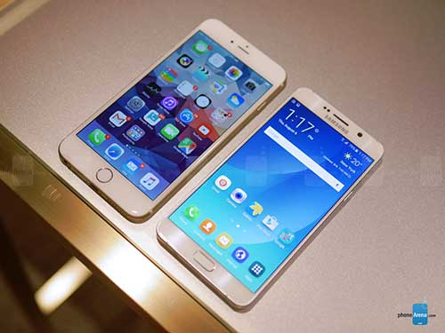 so sanh nhanh galaxy note5, iphone 6 plus - 4