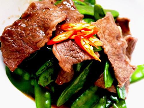 Thịt bò đậu Hà Lan sốt dầu hào bổ dưỡng-8