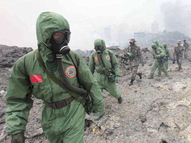 """Vụ nổ ở Thiên Tân """"xóa sổ cả đồn cảnh sát""""-1"""