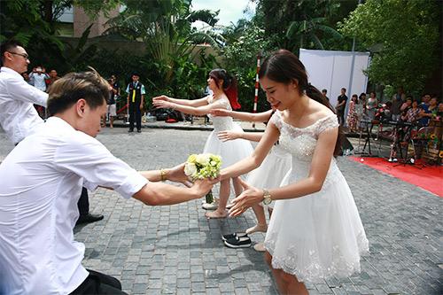 Cận cảnh màn chạy tập thể của 100 cô dâu chú rể-3