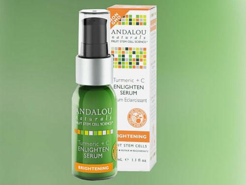 Đánh giá serum làm sáng da Andalou Naturals Turmeric+C Enlighten-1