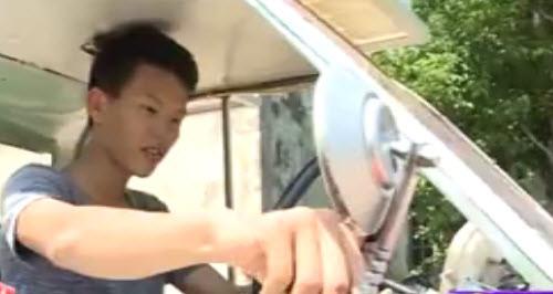 nam sinh nam dinh che tao o to chay bang nang luong mat troi - 3