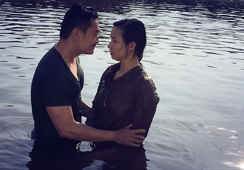 Lã Thanh Huyền ngất trên tay Quốc Thái sau cảnh hôn-5