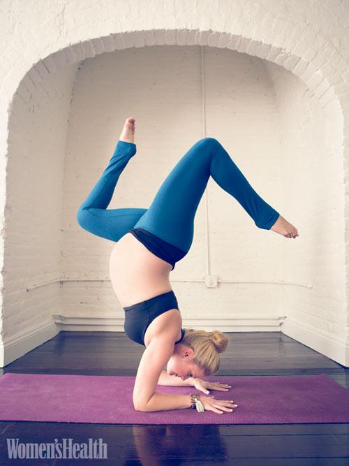 """hinh anh me bau tap yoga khien ai cung """"tram tro"""" - 3"""