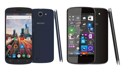 archos gioi thieu 2 smartphone gia re chay android va windows 10 - 1