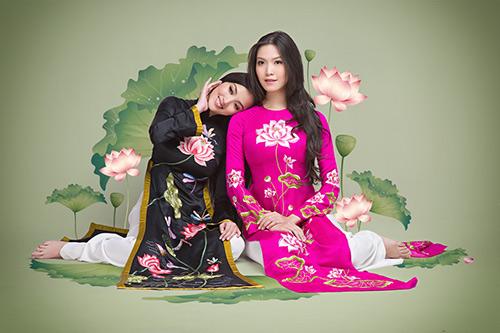 thuy dung, huynh bich phuong khoe sac trong ao dai duc hung - 9