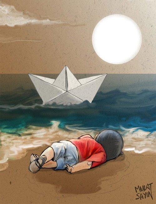 """Xúc động hình ảnh """"Thiên thần ngủ say bên bờ biển""""-2"""