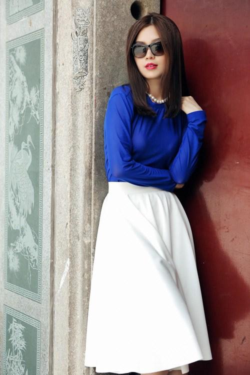 Diễm Trang đẹp rạng ngời sau khi công khai chồng sắp cưới-10