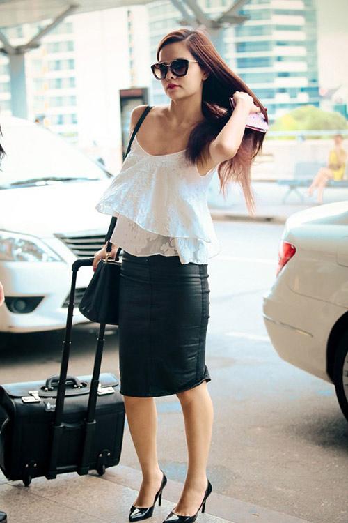 Sao Việt diện thời trang sân bay quá điệu và kiểu cách - 5