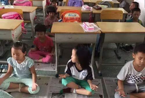 TQ: Bắt học sinh tiểu học ngồi thiền thay ngủ trưa-1