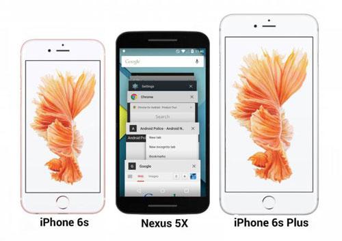 nexus 5x lo anh xanh bac ha, so dang voi iphone 6s - 3