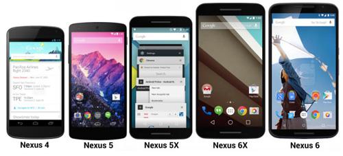 nexus 5x lo anh xanh bac ha, so dang voi iphone 6s - 5