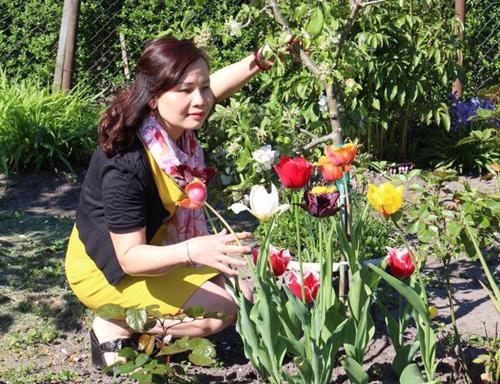 """Mẹ Việt mát tay chăm vườn """"nghìn lẻ một"""" loại hồng tại Đức-19"""