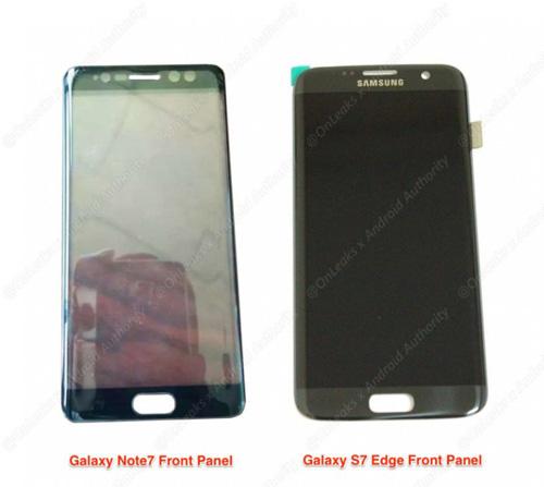 Rò rỉ ảnh mặt trước cặp Samsung Galaxy Note 7-2