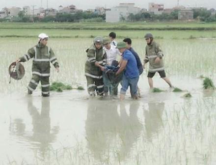 Hà Nội: Người phụ nữ bị sét đánh tử vong trong lúc đi cấy-1