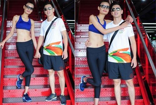 le thuy khoe eo thon gon bac bo tin don mang thai - 1